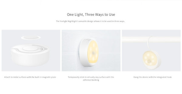 Compre o sensor de luz noturna recarregável Xiaomi Yeelight na kiboTEK Espanha