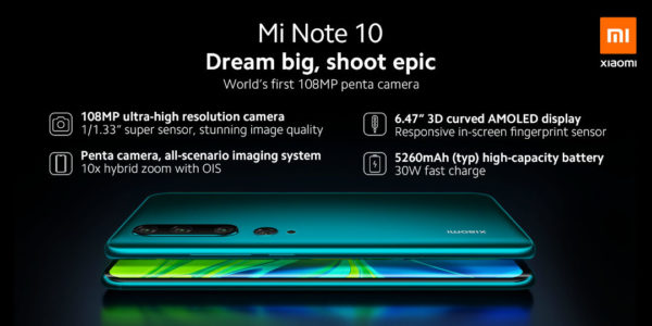 Buy Xiaomi Note 10 in kiboTEK Spain