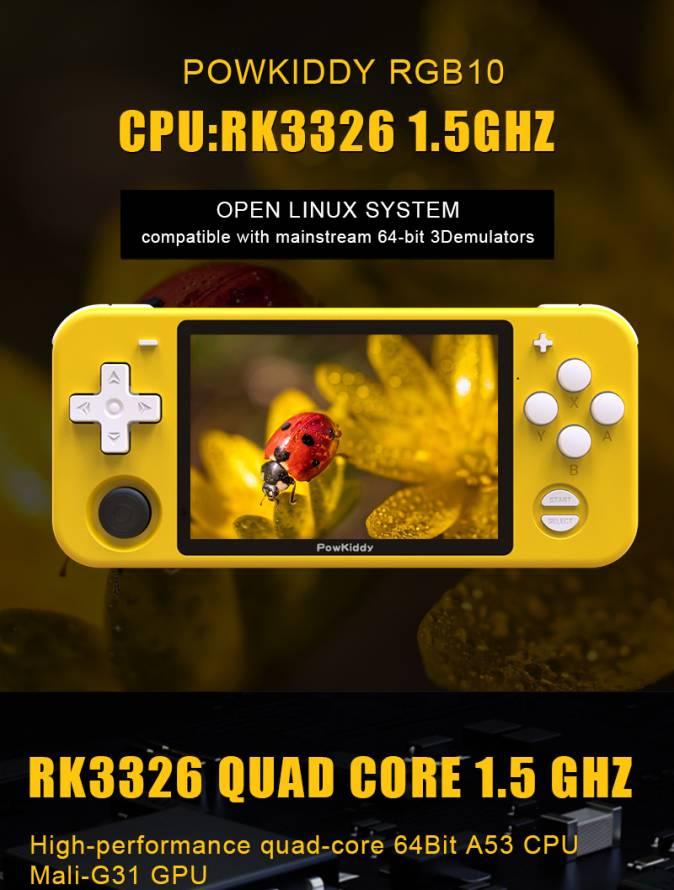 Console di gioco open source multifunzione batteria 2800 mAh retr/ò con schermo IPS da 3,5 RGB10 doppia modalit/à 3D 4800 giochi classici Bluetooth WiFi HD