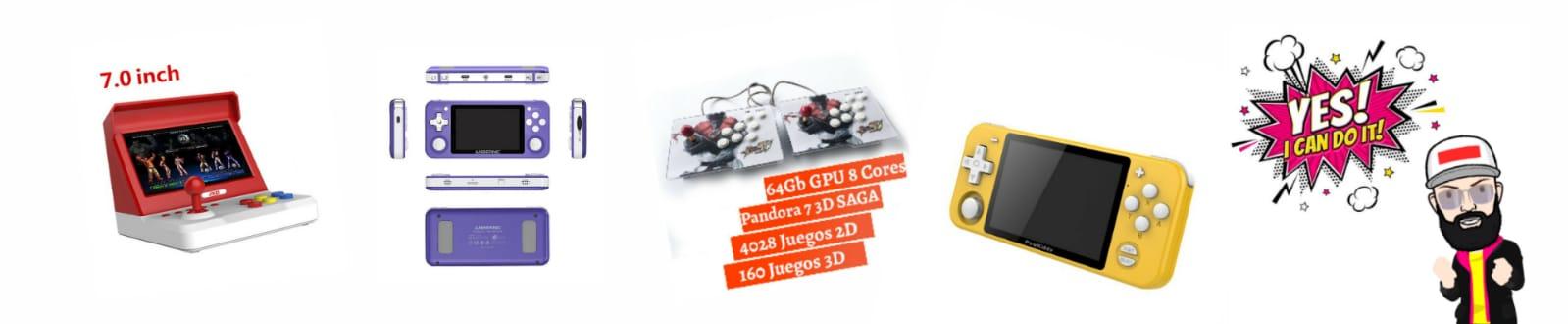 Retro Arcade Neo Geo Anbernic Pandora Box Consoles